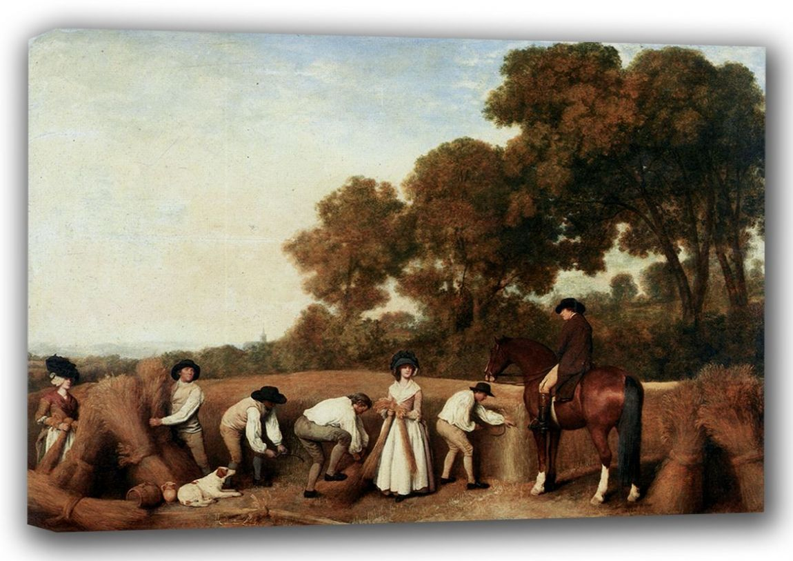 Stubbs, George: Harvesting/The Reapers. Fine Art Canvas. Sizes: A3/A2/A1 (001157)
